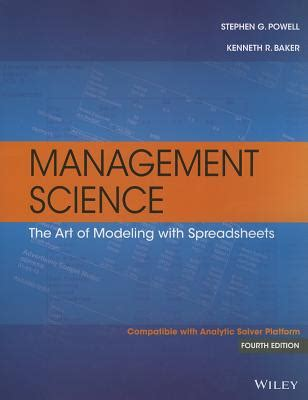 Management Science3 9781118582695 management science the of modeling