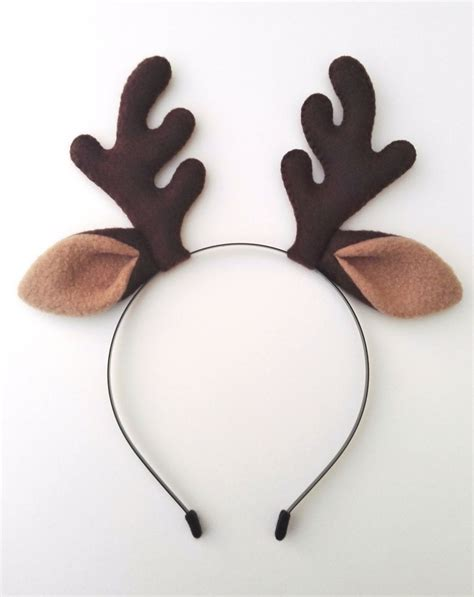 how to make reindeer antlers reindeer antlers headband with ears plush fancy dress band