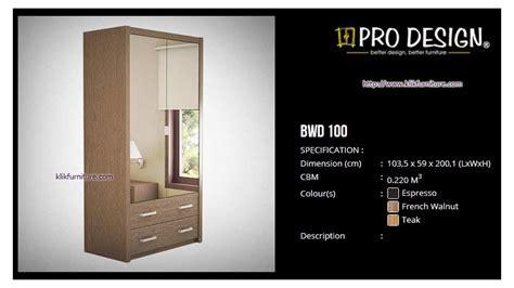 Lemari Pakaian 2 Pintu Bnwd 100 L lemari baju 2 pintu bwd 100l batavia pro design