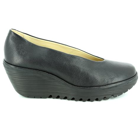 london comfort shoes fly london yaz p500025 149 black comfort shoes