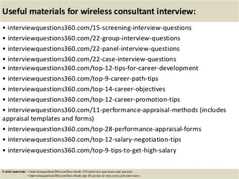 Wireless Consultant by Top 10 Wireless Consultant Questions And Answers
