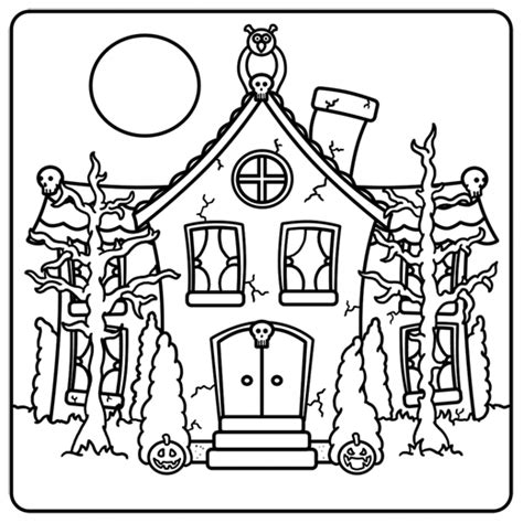 how to draw a haunted house haunted house drawing lesson