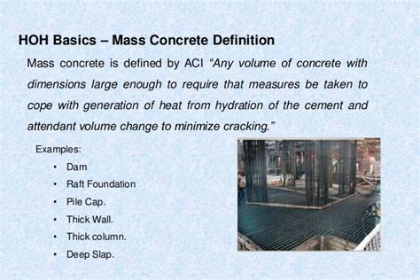 hydration of concrete heat of hydration in mass concrete