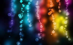 wallpaper cantik warna biru gambar cahaya lingkaran abstrak cantik