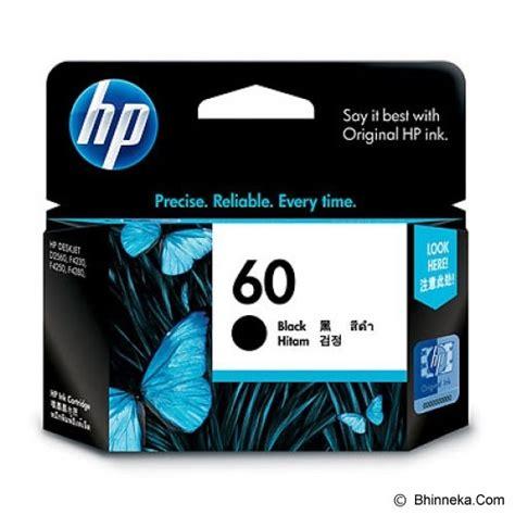 Tinta Printer Hp Deskjet F2410 Jual Hp Black Ink Cartridge 60 Cc640wa Murah Bhinneka