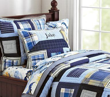 Boys Patchwork Bedding - patchwork squares quilted bedding pbkids done j s room