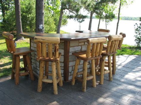 Outdoor Bars Furniture For Patios The Best Rustic Patio Furniture For A Cozy Outdoor Gathering Rustic Crafts Chic Decor