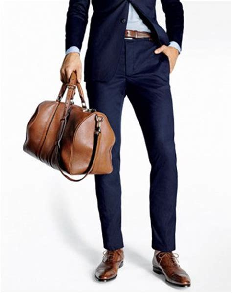 navy blue suit brown shoes and belt or black wedding