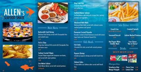 menu board design templates free image gallery seafood menu