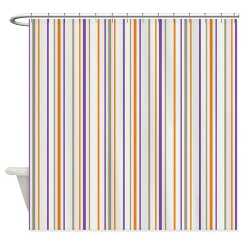 purple and orange curtains retro orange purple striped shower curtain by 1512blvd