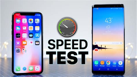 Iphone V Samsung by Iphone X Vs Samsung Galaxy Note 8 Speed Test