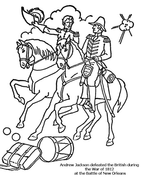 Usa Printables Battle Of New Orleans War Of 1812 Us War Of 1812 Coloring Pages