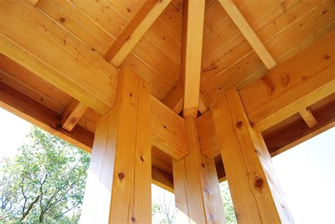 Timber Frame Hip Roof Plan For An Easy 16 X 20 Diy Solid Wood Pergola Or