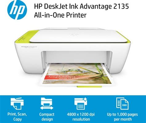 compare hp deskjet ink advantage 2135 all in one printer
