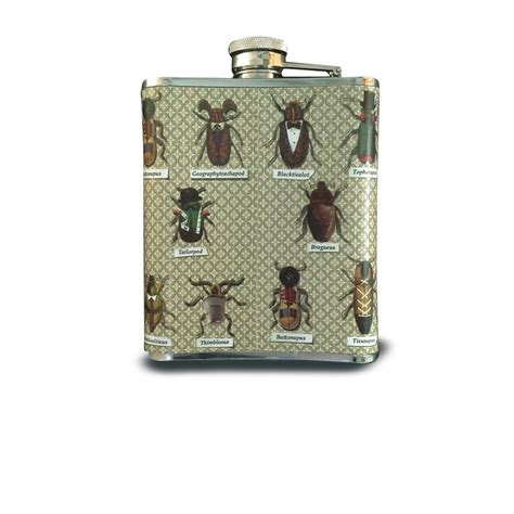 ted baker hip flask insect beetle design finga nails