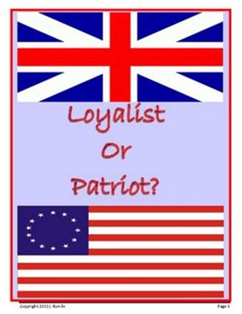 Loyalist Or Patriot Essay by Loyalist Or Patriot Writing An Opinion Paul Revere Graphic Organizers And Lesson Plans