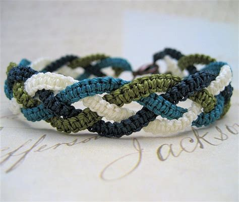 Simple Macrame Bracelet Patterns - macrame cording bracelet crafts