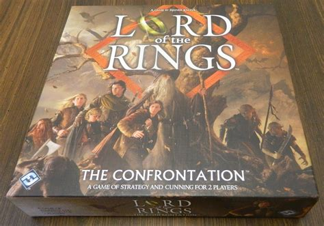 Lord Of The Rings The Confrontation 2013 Edition Original lord of the rings the confrontation board review geeky hobbies