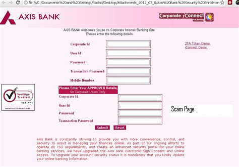 Axis Bank Blank Letterhead Registration Form Of Axis Bank All Free