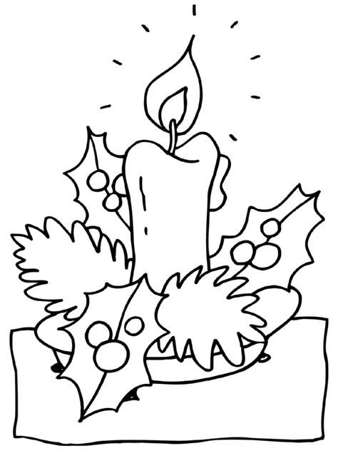 christmas candle coloring pages coloringpages1001 com