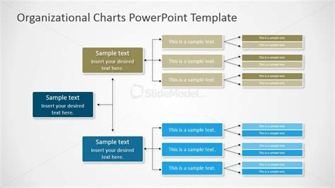template chart powerpoint horizontal orgchart powerpoint diagram slidemodel