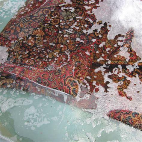 overdyed rug diy step 3 wash design lines ltd