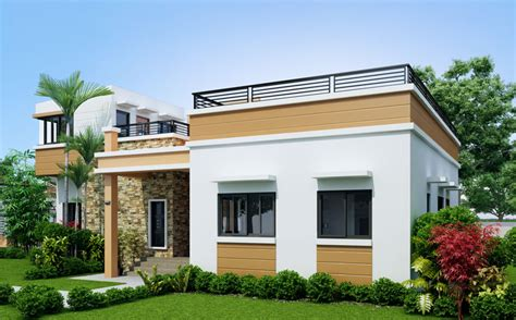 concrete roof house plans rey four bedroom one storey with roof deck amazing