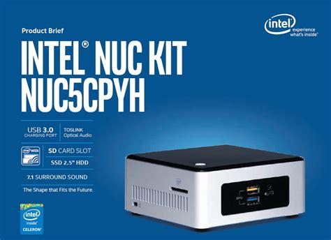 Intel Nuc 5cpyh 4h500 Celeron N3050 jual intel nuc complete set mini pc boxnuc5cpyh h1w murah bhinneka