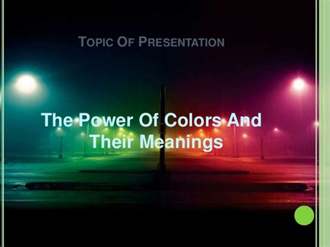 color of power the power of colors and their meanings