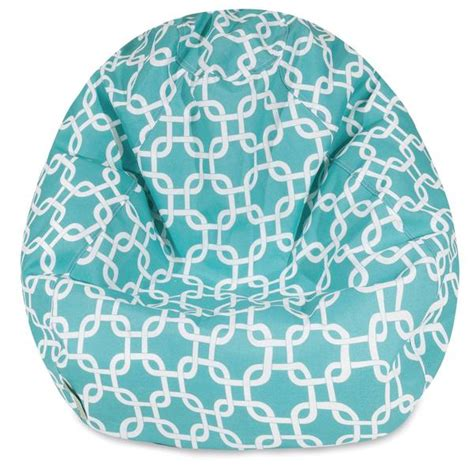 buy majestic home  teal links small classic bean bag  contemporary furniture warehouse
