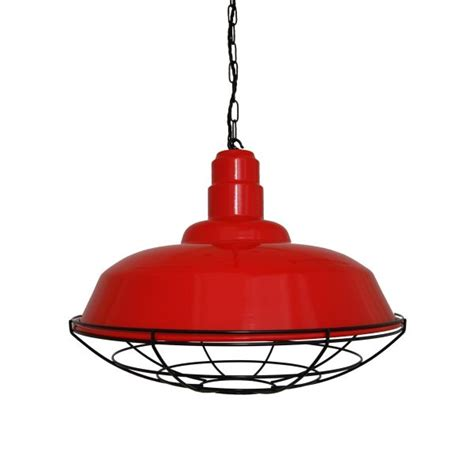 Modern Mirrors For Dining Room Eden Red Industrial Cage Pendant Light