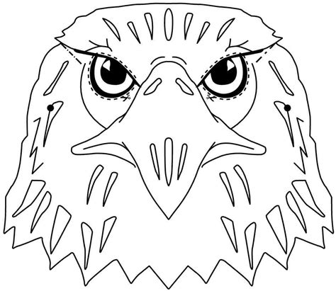printable hawk mask best photos of bald eagle template printable eagle