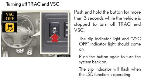 how to turn off trac off light next year s is f page 8 club lexus forums