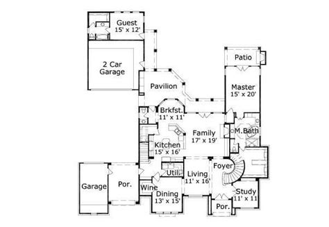 house plans with separate guest house separate guest quarters house plans pinterest