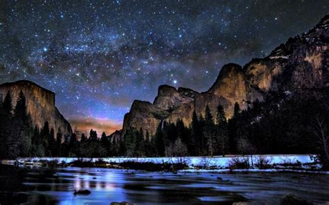Way peaceful sky lovely yosemite national park wallpaper
