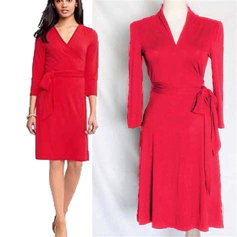 Gemima Dress X S M L nwot banana republic gemma wrap dress coral flattering