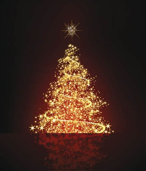 bright stars christmas tree vector free vector 4vector