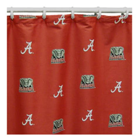 university of alabama shower curtain alabama crimson tide shower curtain roll tide district