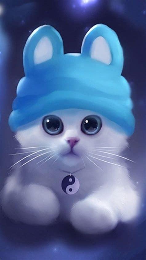 cute  white kitty hd iphone  wallpaper cute