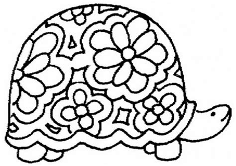 free coloring pages of how to draw a turtle