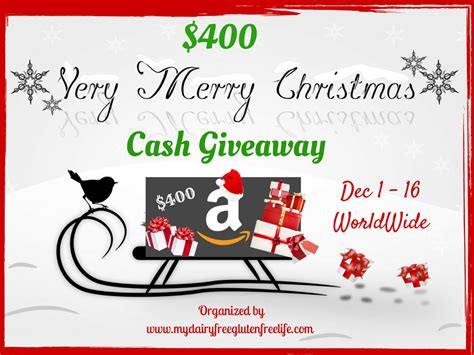 Christmas Money Giveaway - very merry christmas 400 cash giveaway