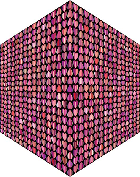 cube pattern png clipart prismatic alternating hearts pattern cube