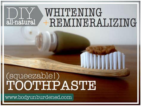 diy toothpaste diy all whitening remineralizing toothpaste unburdened