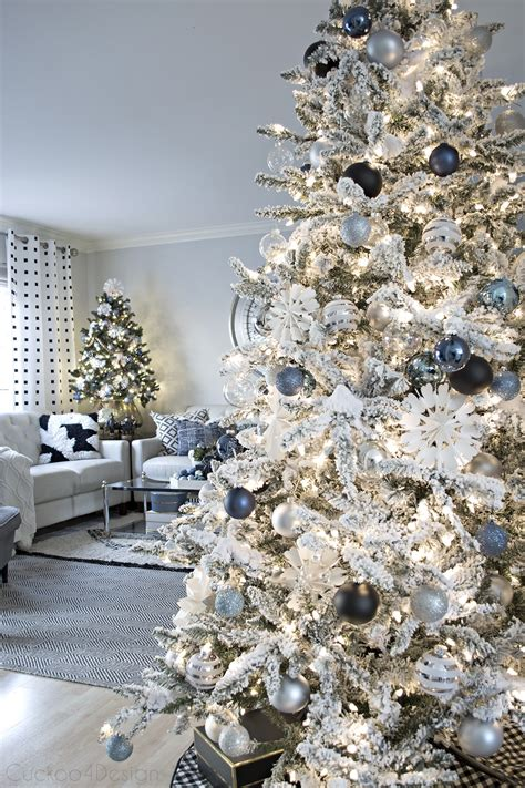 decorating for christmas with gold blue and gray blue black and white cuckoo4design