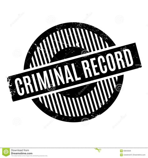 Can A Criminal Record Be Removed Offender Rubber St Royalty Free Stock Image