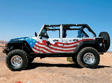 white and blue jeep jeep red white and blue it s a jeep thang