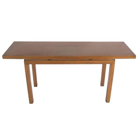 Flip Top Console Dining Table Flip Top Console Table Or Dining Table In The Manner Of Dunbar At 1stdibs