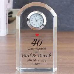 Unusual Wedding Gifts Ideas Personalised Ruby Anniversary Clock Find Me A Gift