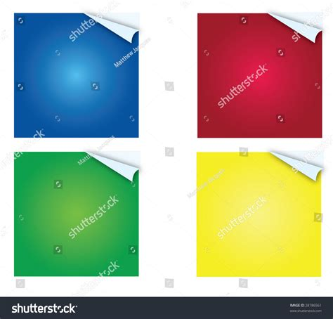 Post It Multi Page multi colored sticky postit notes page stock illustration