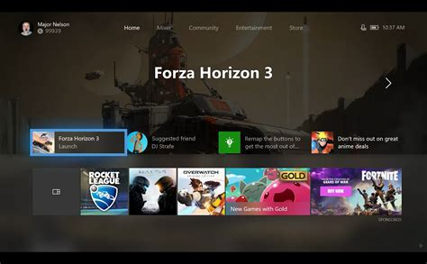 xbox one is getting a completely new customizable interface